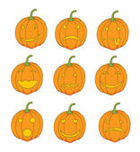 Photo Set of pumpkin emoticons