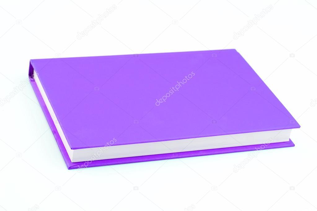 libro morado en aislados — Foto de stock © Jayjaynaenae #26735267