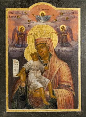 Icon of divine mother of 19 centuries