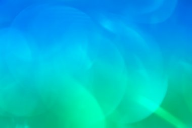 Natural bokeh on gradient background