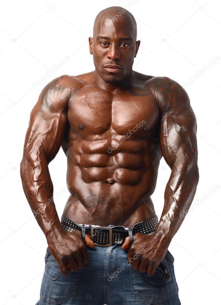 Ripped Black Man