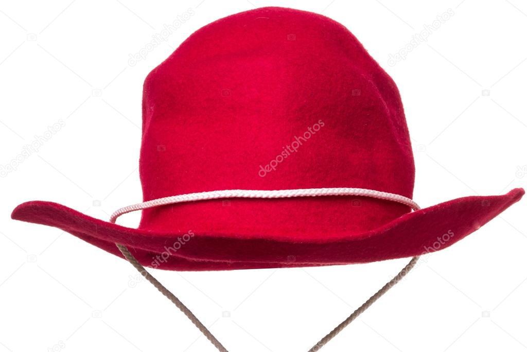 Un rosso bambino dimensioni feltro cappello da cowboy per vestire gioco —  Foto di dogfordstudios 498b8879151f