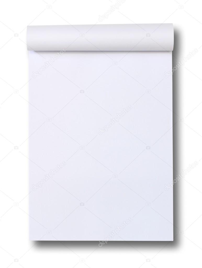 Blank Paper tablet