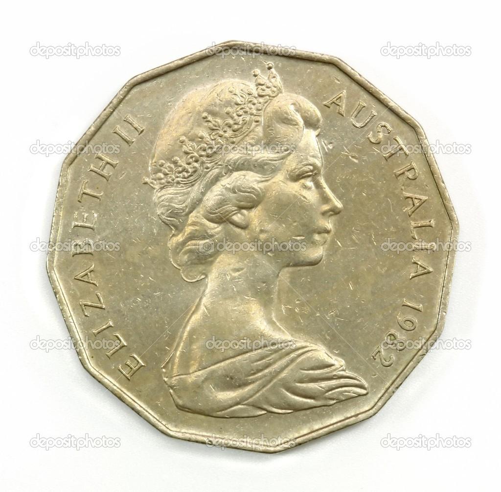 Alte Australien 50 Cent Münze Stockfoto Bennyartist 13291842