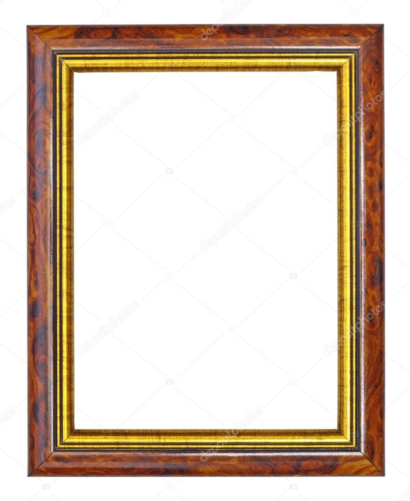Makha wood frame with gold edges