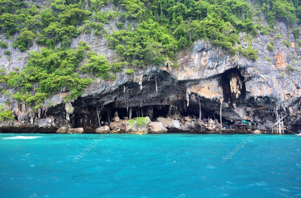 Viking cave - place of bird's nest collection Thailand