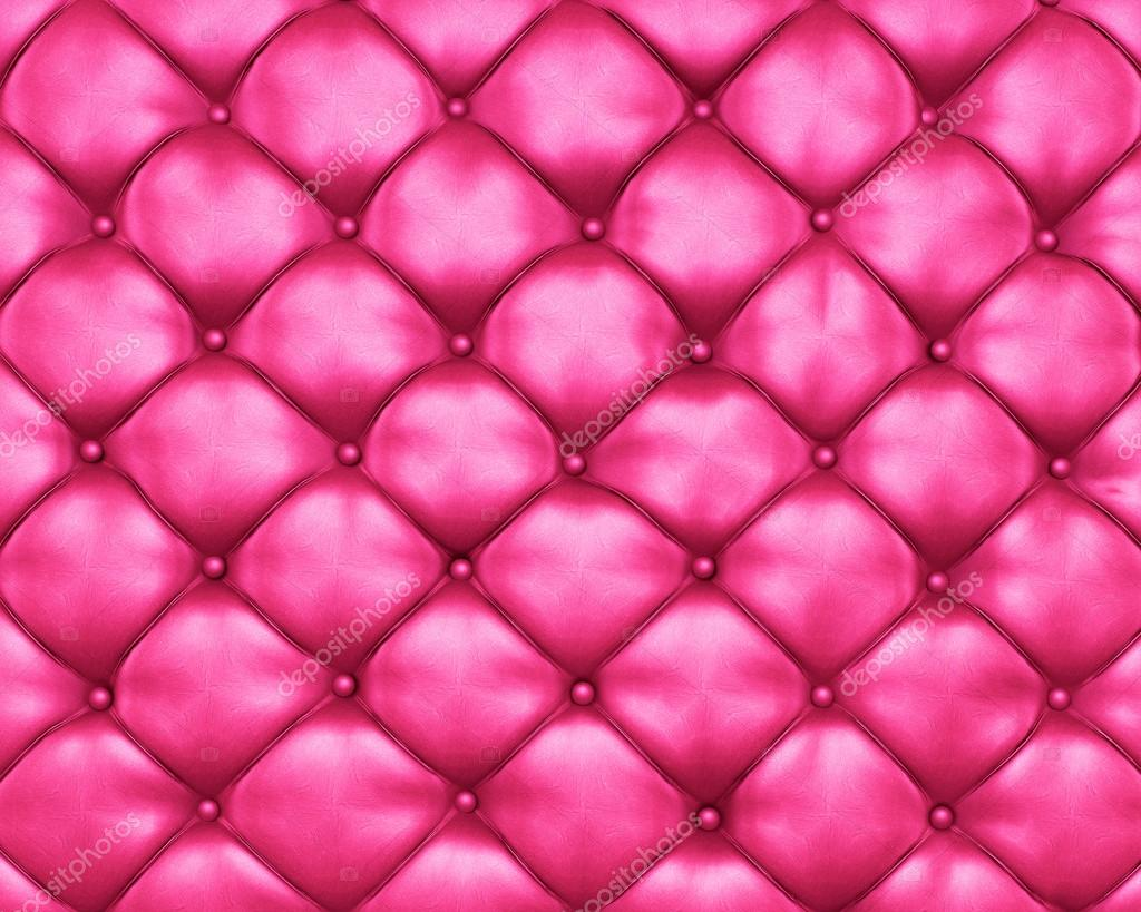 luxury texture of pink leather furniture with buttons