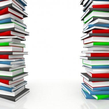 Book piles frame