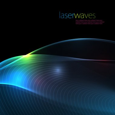 Retro laser wave background