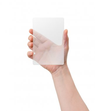 Hand holding plastic device