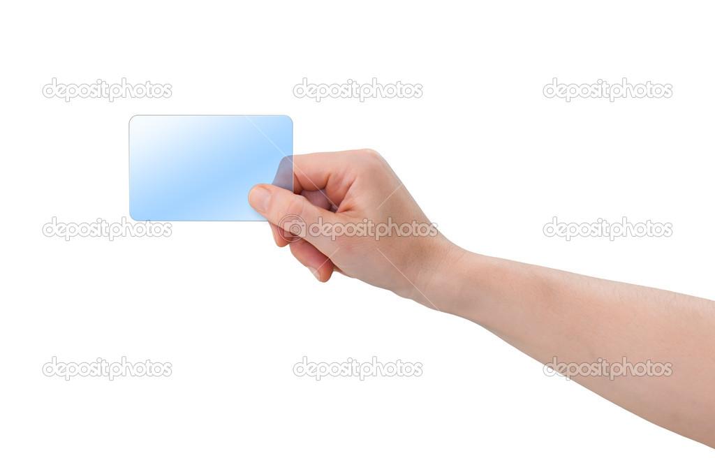 Hand holding plastic card — Stock Photo © viewgene #12287017
