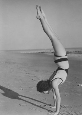 Handstand at the beach