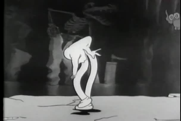 kreslený ducha break dance