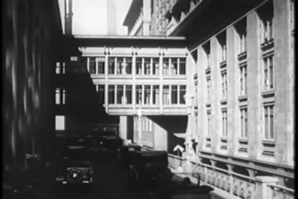 pohled z auto v new york city, třicátých let