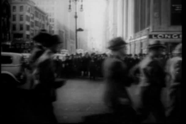 frekventované ulice new Yorku, třicátých let