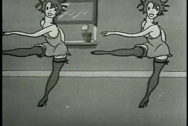 Two female dancers dancing in dressing room