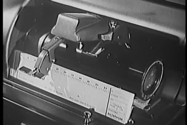 Close-up 1940s audio recording device