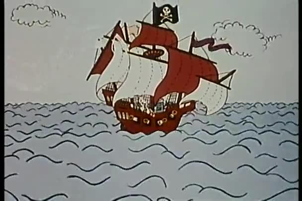 colpito da un fulmine poi affondamento di nave pirata