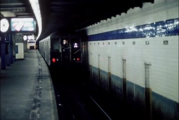 Train pulling out of subway station