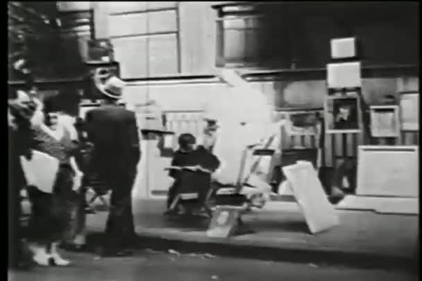 venkovní umění trh v soho, new york city, třicátých let