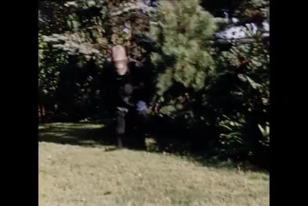 Person dressed in gorilla suit coming out of bushes