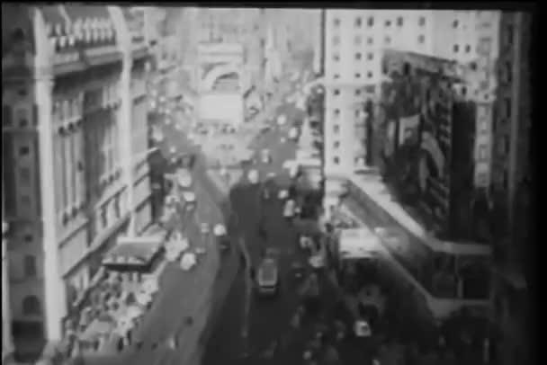 vysoký úhel pohled na rušné křižovatce v new Yorku
