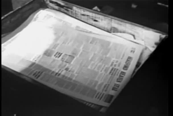 detail novin vytištěno na tiskařském stroji