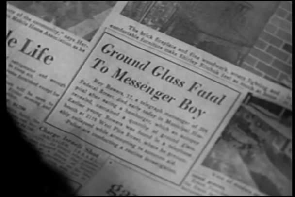 Detailní záběr novinový titulek