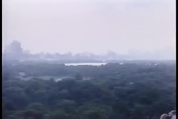 pohled z vysokého úhlu central parku, new york city
