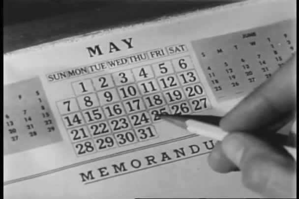 Ruka označení datum v kalendáři