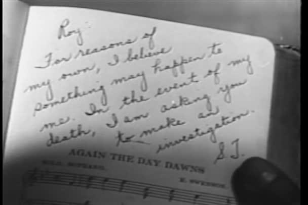 A zene lap írt jegyzet részlete