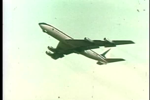 Commercial airplane taking off from runway