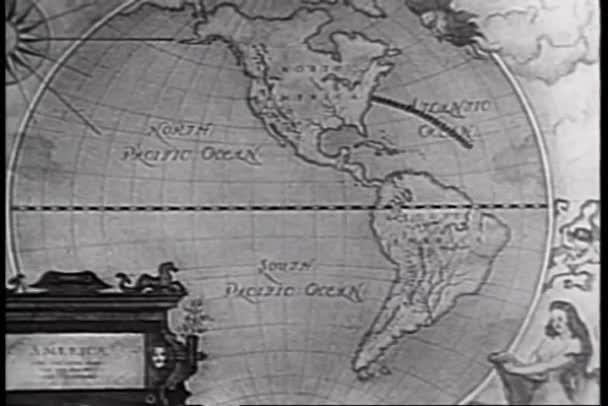 animace trasy na mapě světa