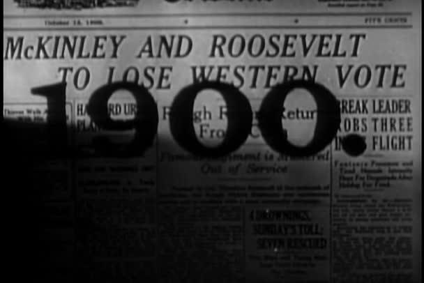 přední kryt novin z roku 1900