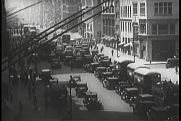 provoz na frekventované ulici v new Yorku