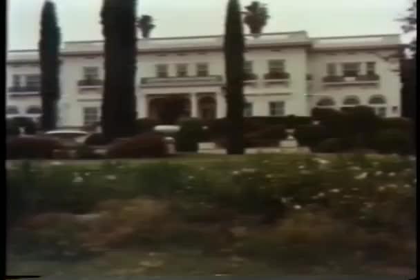 Wide shot of mansion