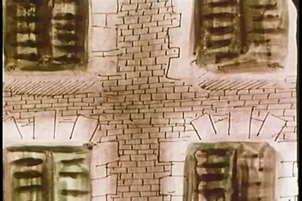 Close-up cihlová budova krakování