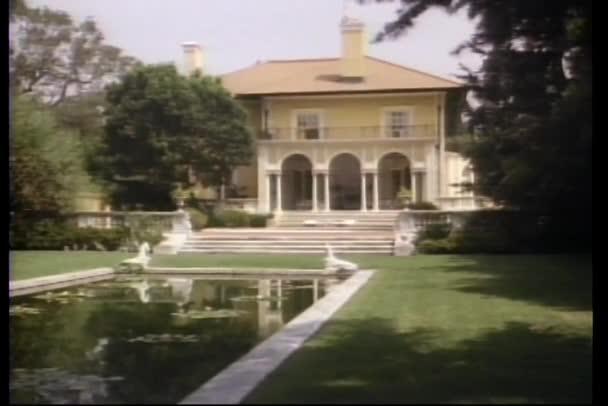 Long shot of large mansion