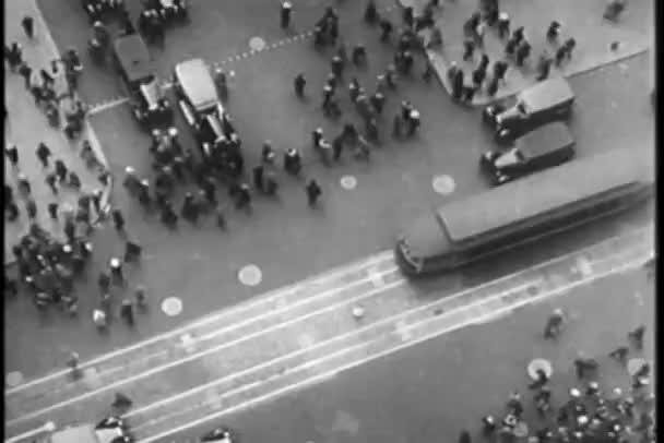 Letecký pohled na new york čirý neruší, třicátých let