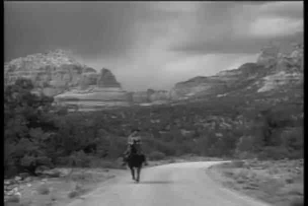 Cowboy riding horse in Sedona, Arizona