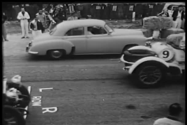 Cars on race circuit