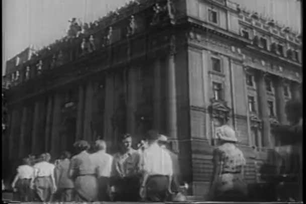 radnice, new york city, čtyřicátých let