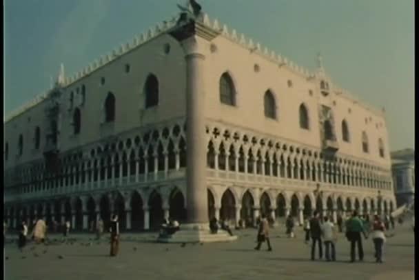 Széles szög kilátás Piazza San Marco, Velence, Olaszország