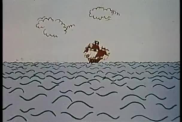 zoom nella bandiera del teschio e ossa incrociate su nave pirata
