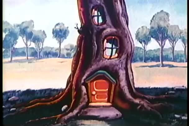 Cartoon of tree house