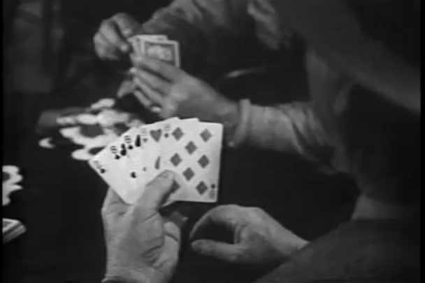 Medium erschossen Männer spielen poker