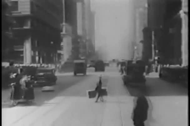 ulice New Yorku od auta