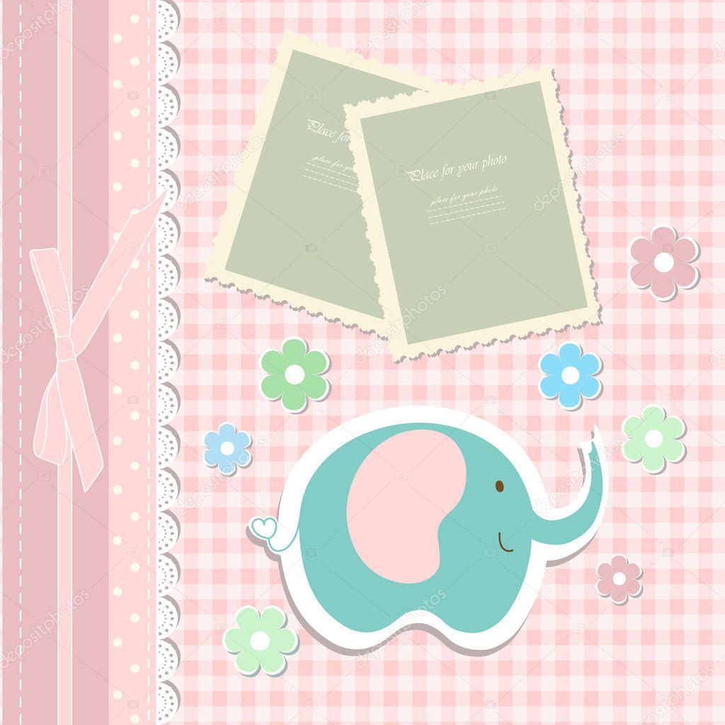 Romantisches Baby Art Hand Zeichnung Spielzeug Für Einladung, Grußkarte,  Album, Kinder Mädchen, Alles Gute Zum Geburtstag, ...