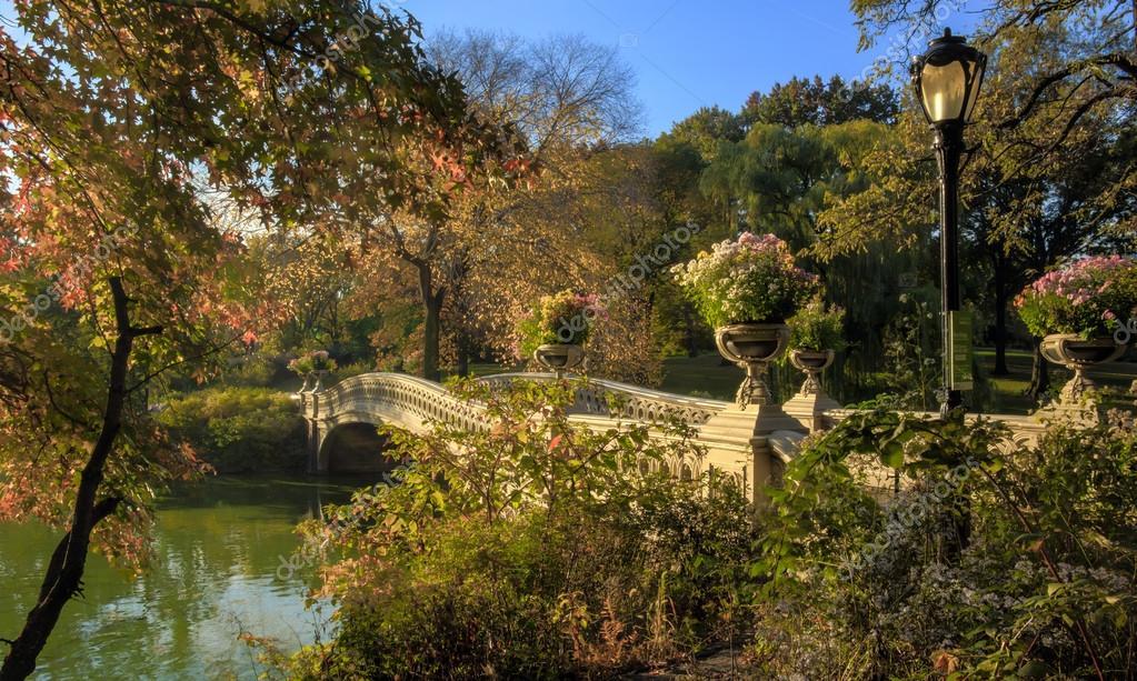 Central Park, New York City bow bridge