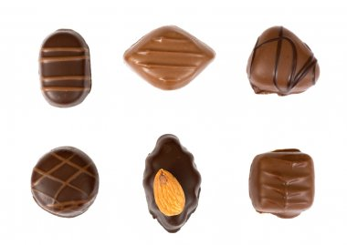 Chocolates isolated